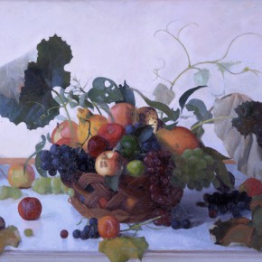 Still Life with Grape Leaves